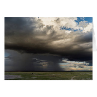 Storm Forming Over The Nearby Slopes Of Mount Greeting Card