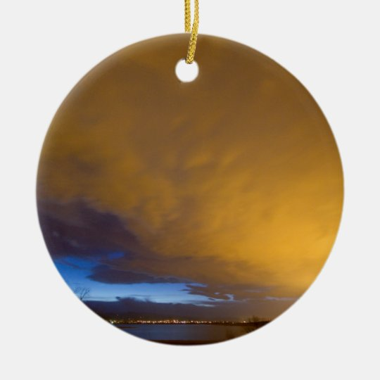 Storm Front Ceramic Ornament