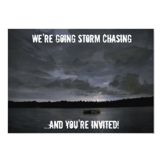 Storm Front Storm Chasing Photo Invitation
