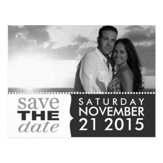 Storm Grey Sweet Beginnings Save the Date Photo Postcard