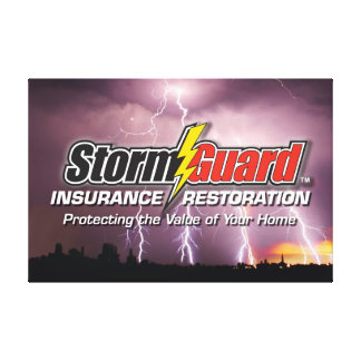 Storm Guard Logo - 24 x 36 inch Wrapped Canvas Stretched Canvas Print