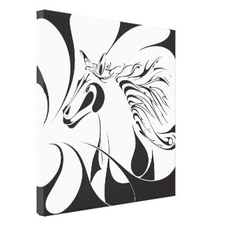 Storm Horse Gallery Wrapped Canvas