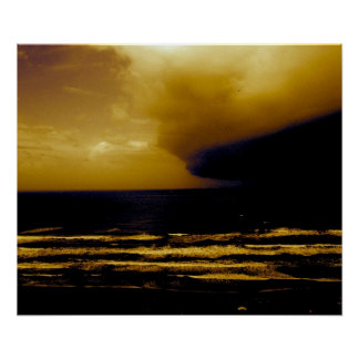 Storm Hurricane Creeping Towards Texas Coast Poster