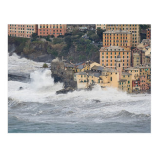 Storm in Camogli Postcard