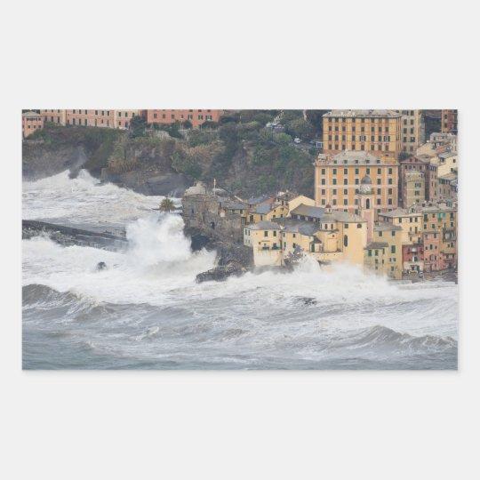 Storm in Camogli Rectangular Sticker