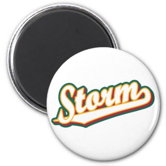 Storm in Gold, Red and Green Magnet