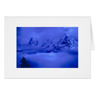 Storm in the Alps Greeting Card