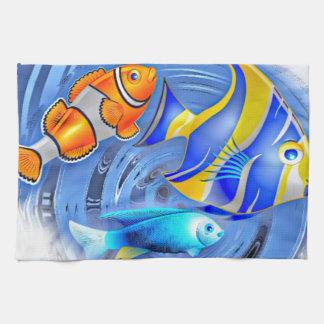 storm in the aquarium (C) Hand Towel