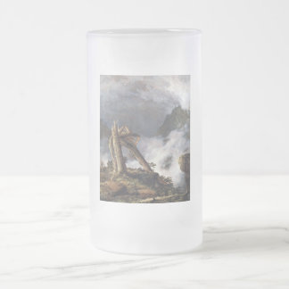 Storm in the Mountains by Frederick Edwin Church.j Frosted Glass Beer Mug