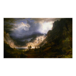 Storm in the Rocky Mountains Posters