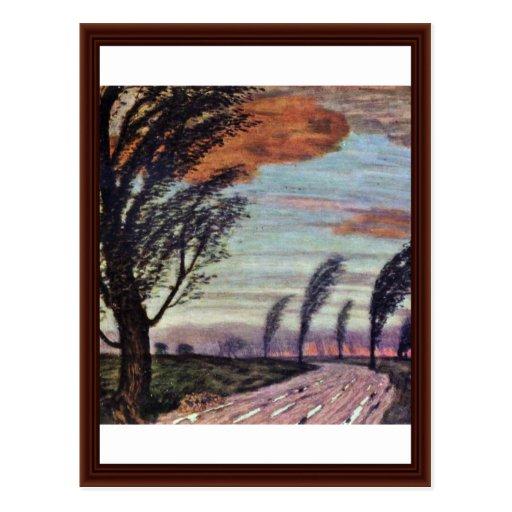 Storm Landscape By Stuck Franz Von Postcard