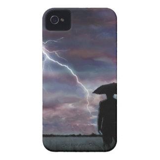 storm lightning landscape fields nature sunset iPhone 4 cover