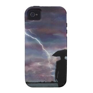 storm lightning landscape fields nature sunset vibe iPhone 4 case