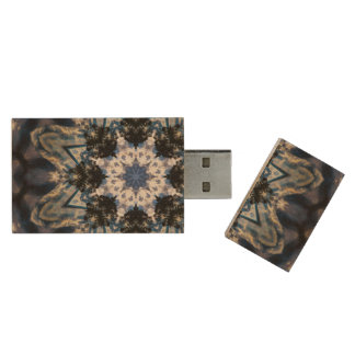 Storm madness wood USB 3.0 flash drive