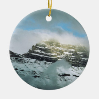 Storm Mountain Ceramic Ornament