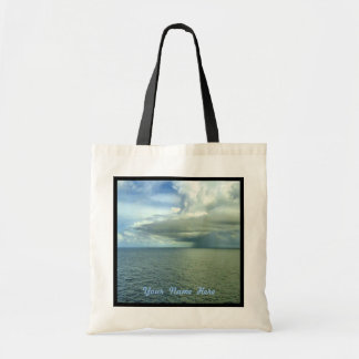 Storm Off Starboard Black Trim Personalized Budget Tote Bag