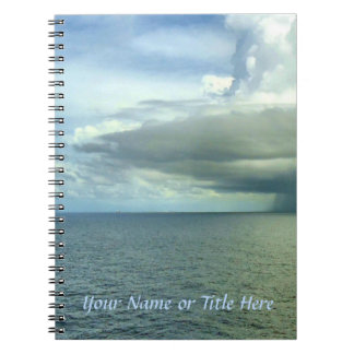 Storm Off Starboard Personalized Spiral Notebook