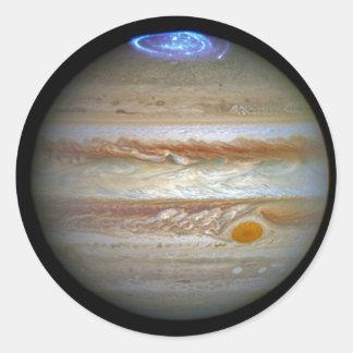 Storm on Jupiter Classic Round Sticker