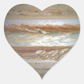 Storm on Jupiter Heart Sticker