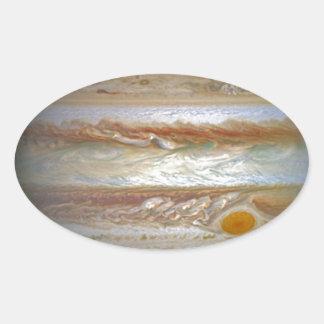 Storm on Jupiter Oval Sticker