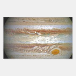 Storm on Jupiter Rectangular Sticker