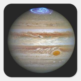 Storm on Jupiter Square Sticker