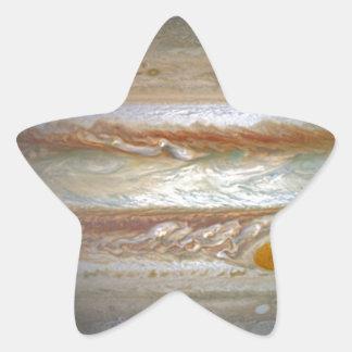 Storm on Jupiter Star Sticker