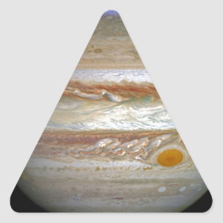 Storm on Jupiter Triangle Sticker