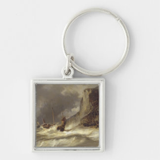 Storm on the Coast at Etretat, Normandy, 1851 Key Chain