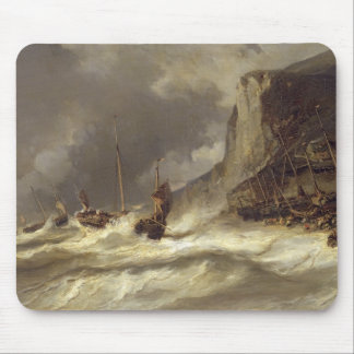 Storm on the Coast at Etretat, Normandy, 1851 Mouse Pad