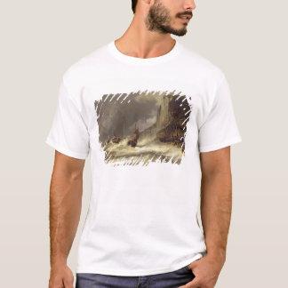 Storm on the Coast at Etretat, Normandy, 1851 T-Shirt