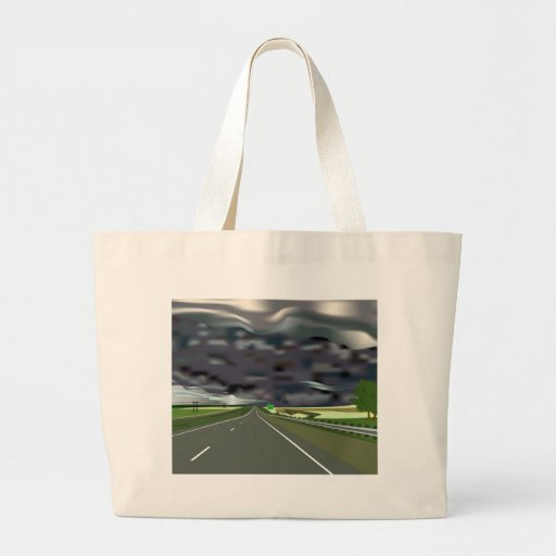 Storm on the Horizon Tote Bags