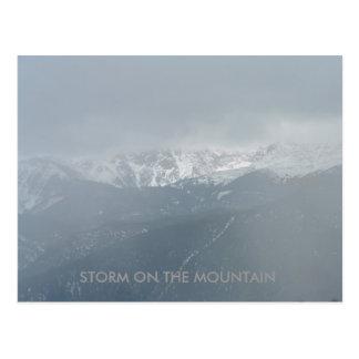 STORM ON THE MOUNTAIN Postcard