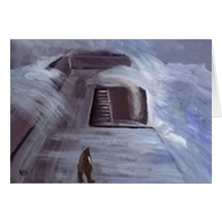 Storm on the pier card