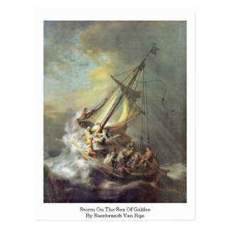 Storm On The Sea Of Galilee By Rembrandt Van Rijn Postcard