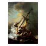 Storm on the Sea of Galilee Greeting Card
