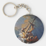 Storm on the Sea of Galilee Basic Round Button Keychain