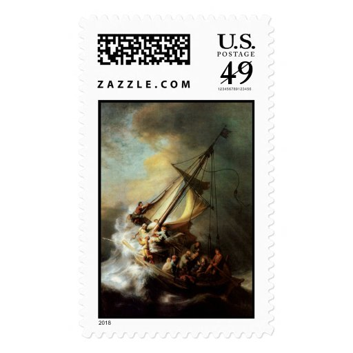 Storm on the Sea of Galilee Postage Stamp