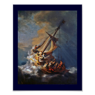 Storm on the Sea of Galilee Posters