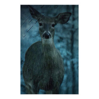 Storm outdoorsman wild life whitetail buck Deer Stationery