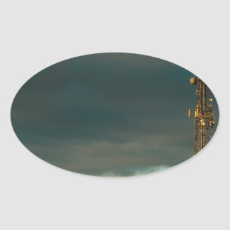 Storm over Combe Oval Sticker