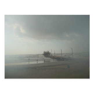 Storm over Galveston, Tx Postcard