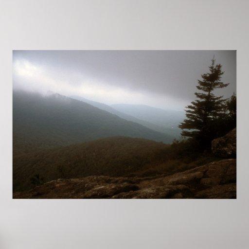 Storm over Great Cliff of Mount Horrid Print