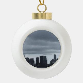 Storm Over Miami Ceramic Ball Christmas Ornament