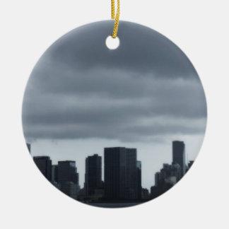 Storm Over Miami Ceramic Ornament