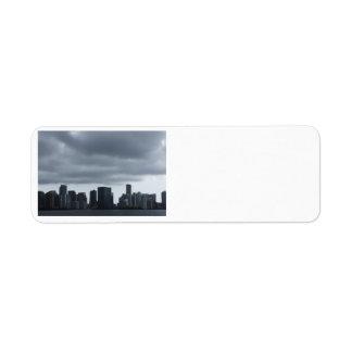 Storm over Miami Custom Return Address Label