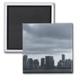 Storm over Miami Fridge Magnets
