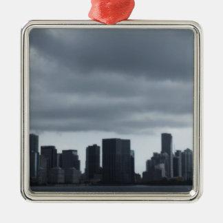 Storm Over Miami Metal Ornament