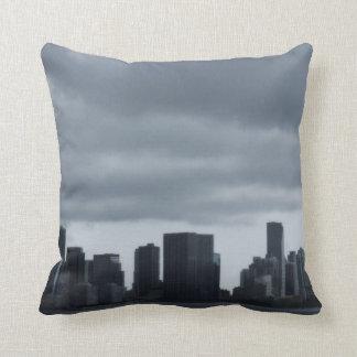 Storm over Miami Throw Pillows