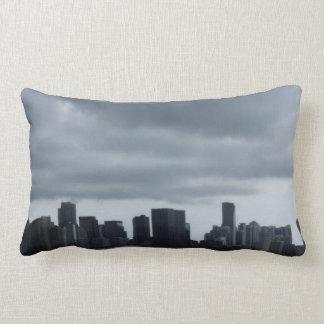 Storm over Miami Throw Pillow